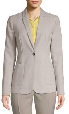 T Tahari Classic Long-Sleeve Blazer