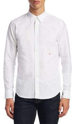Acne Studios Ohio Face Slim-Fit Cotton Casual Button-Down Shirt