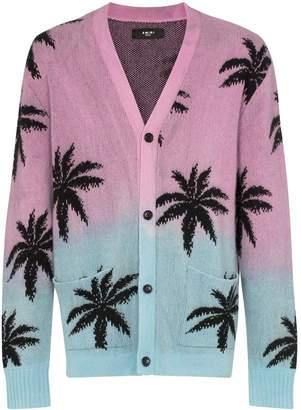 Amiri palm print cashmere cardigan
