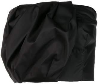 Prada strapless draped top