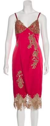 Mandalay Embellished-Accented Midi Dress