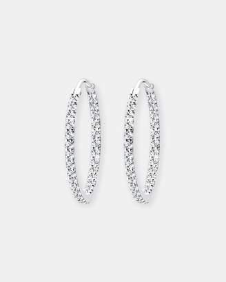 Swarovski Earring 925 Sterling Silver Glamor Hoop Crystals