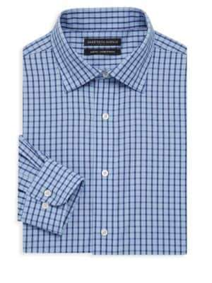 Saks Fifth Avenue Slim-Fit Windowpane Check Dress Shirt