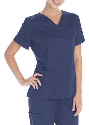 Scrubstar Women's Core Essentials Mechanical Stretch V-Neck Scrub Top