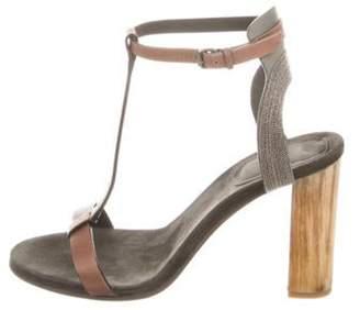 Brunello Cucinelli Monili Embellished Sandals Grey Monili Embellished Sandals