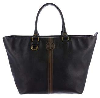 Tory Burch Coated Canvas Tote - BLACK - STYLE