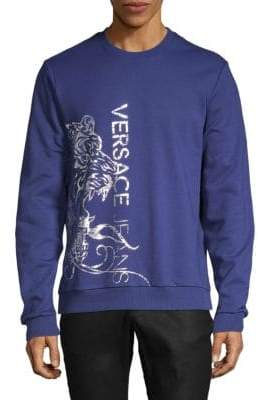 Versace Printed Cotton Sweater