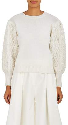 Co Women's Embellished Wool-Cashmere Sweater