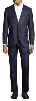 Lubiam Wool Pinstripe Suit