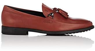 Tod's MEN'S TASSELED LEATHER LOAFERS - RED SIZE 8.5 M