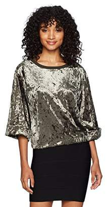 UNIONBAY Women's Crushed Velour Luna Top