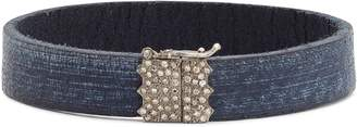 Armenta New World Leather & Diamond Bracelet
