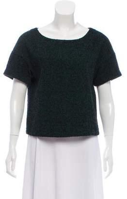 Tibi Short-Sleeve Tweed Top