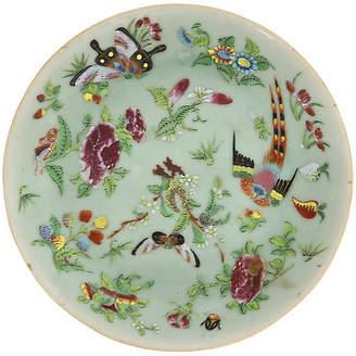 One Kings Lane Vintage Antique Chinese Celadon Wucai Plate