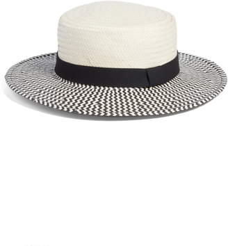 Something Navy Two-Color Boater Hat