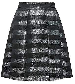 HUGO BOSS A-line skirt in striped fabric