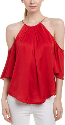 Trina Turk Audree Silk-Blend Top