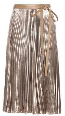 Valentino Pleated velvet skirt