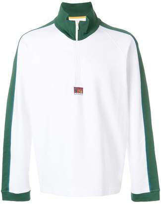Kenzo striped trim sweatshirt