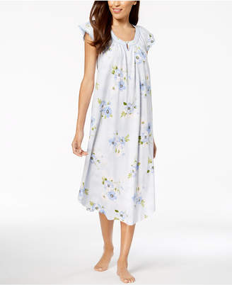 Charter Club Lace-Trim Cotton Nightgown