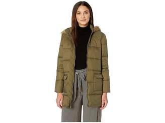 BB Dakota Moon Walker Nylon Puffer Jacket with Fur-Lined Hood