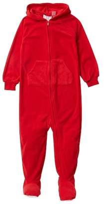 Sara's Prints Hooded Fleece Footed Sleeper (Baby, Toddler, Little Kids, & Big Kids)