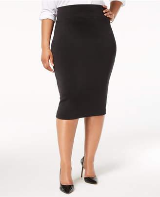 Alfani Plus Size Knit Pencil Skirt