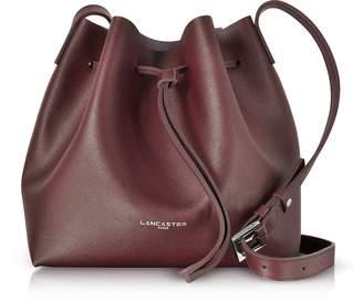 Lancaster Paris Pur & Element Burgundy Saffiano Leather Bucket Bag