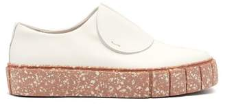 Primury - Paper Planes Slip On Leather Trainers - Womens - Pink White