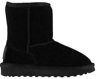 Soul Cal SoulCal Kids Girls Selby Snug Boots Child Slip On Faux Fur Suede Textured