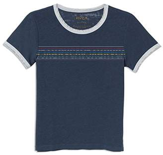 RVCA Junior's Double Vision Short Sleeve Burnout Crew Neck T-Shirt