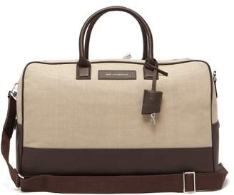 943259fed043 WANT Les Essentiels Douglas Leather Trimmed Canvas Holdall - Mens - Beige