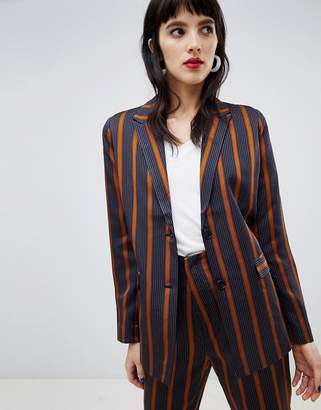 Custom Made Custommade Striped Satin Blazer
