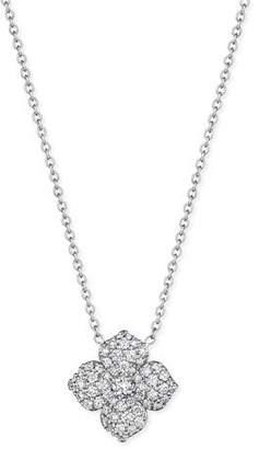 Penny Preville Pavé Diamond Flower Pendant Necklace
