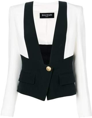 Balmain embossed button vest jacket