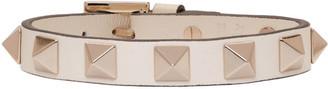 Valentino Ivory Leather Rockstud Bracelet $175 thestylecure.com
