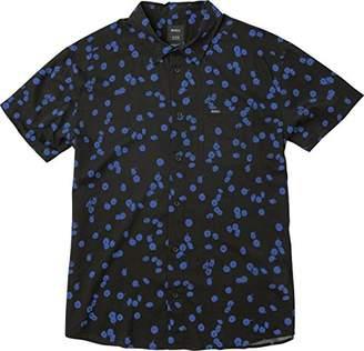 RVCA Men's Od Floral Short Sleeve Woven Shirt