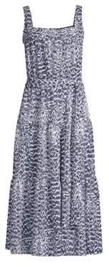 MICHAEL Michael Kors Viper Print Tiered Midi Dress