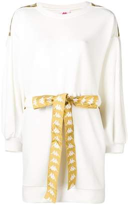 Kappa logo belted sweatshirt dress