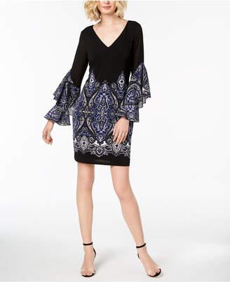 INC International Concepts I.n.c. Paisley Ruffle-Sleeve Sheath Dress, Created for Macy's