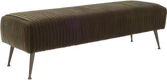 Safavieh Couture Salome Velvet Bench With Antique Bronze Legs