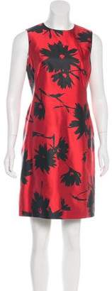 Michael Kors Silk Floral Print Dress