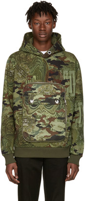Givenchy Green Camo Detachable Pocket Hoodie $1,495 thestylecure.com
