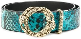Just Cavalli snakeskin embossed belt