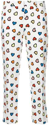 Love Moschino heart print cropped trousers