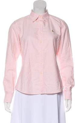 Ralph Lauren Striped Button-Up Top