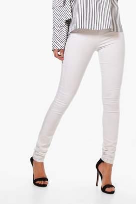 boohoo Tall White High Waisted Skinny 36 Leg Jeans