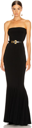 Norma Kamali Strapless Fishtail Gown in Black   FWRD