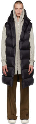 Rick Owens Black Down Hooded Vest