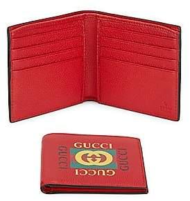 a627eeac3d04 Gucci Men's Bi-Fold Leather Wallet